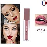 Rouge à lèvre mat Velvet Black Gold waterproof semi permanent Nude Beige Rosé longue durée o.two.o