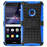 Huawei P8 Lite 2017 Outdoor-Hülle | JAMMYLIZARD Schutzhülle [ ALLIGATOR ] Doppelschutz Handyhülle aus Polycarbonat und Silikon Backcover Lifeproof-Case, BLAU