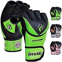 Farabi MMA Fighter Gloves Kickboxing Training Gloves Green Black (LXL)