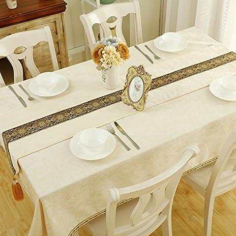 table cloth fabrics fluid systems tea table table cloth living room household use table runner rectangle white tablecloth bar decoration-A