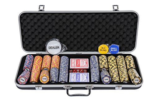 Riverboat Gaming Monte Carlo Poker Chips Set - 14g 500 Piece Numbered Poker Set amp; Accessories