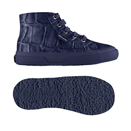 Chaussures Le Superga - 2095-fabricsilkcoccoj - Bambini Metal Navy