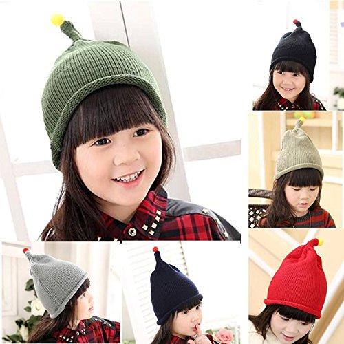 mark8shop Baby Winter warm Knit Hat Bobble Slouch Strickmütze Crochet Beanie blancho Gap Knit Slouch Beanie