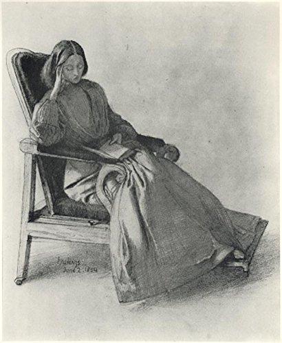 Das Museum Outlet-Elizabeth Eleanor Siddal Lesen, Juni 1854-A3Poster