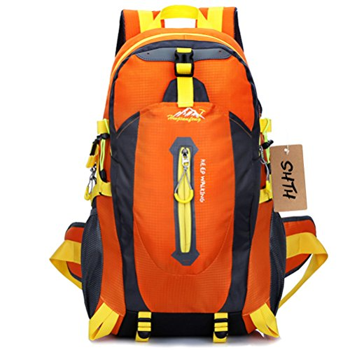 shth 35L + 5L impermeabile sport all' aria aperta campeggio escursioni trekking zaino Travel Pack di alpinismo arrampicata zaino ,52(H) x 30(L) x 20(W) cm, Orange, 52 (H) x 30(L) x 20(W) cm