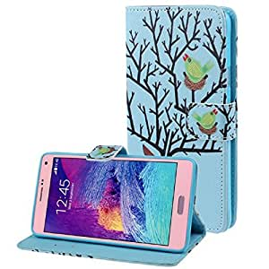 Tonsee Leather Cover TPU Case For Samsung Galaxy Note 4 (Bird Nest)