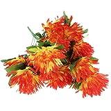 Baoblaze Seiden Kunstblumen Blumenstrauß Grabgesteck Grabschmuck für Totensonntag Allerheiligen und Trauerfeier - Multi