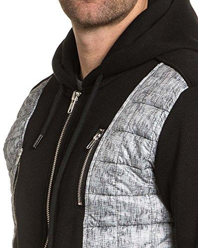 BLZ jeans - Gilet sweat zippé à capuche Noir