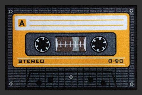 Preisvergleich Produktbild Fussmatte Tape Orange Kassette Fußmatte Cassette Schmutzmatte Türabstreifer Türmatte Fußabstreifer Schmutzfangmatte