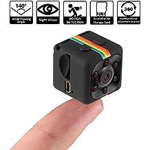 Pawaca 1080 P Mini Caméra HD Caméscope Spy Caméra Nounou Web Cam Sport Mini DV Enregistreur Vidéo avec Vision Nocturne et Détection de Mouvement pour la Surveillance de la Sécurité à Domicile