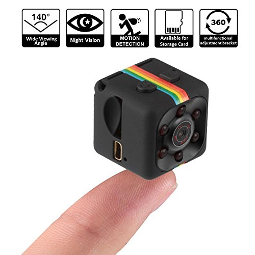 Pawaca 1080P Mini Camera HD Camcorder Spy Camera Nanny Web Cam Sports Mini DV Video Recorder with Night Vision and Motion Detection for Home Security Surveillance
