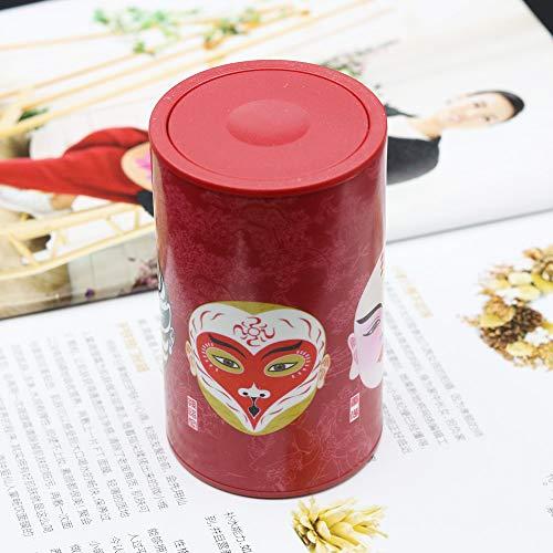 NiNnn Zahnstocher Box Hand Druck automatische Zahnstocher Inhaber Wohnzimmer Zahnstocher Glas Persönlichkeit chinesischen Wind Zahnstocher Eimer 56,2 * 56,2 * 94,3 mm, rot Reise zum Zahnstocher