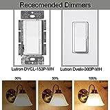 Luohaoshi 4 X Dimmbar 6W Kerzenlampe e14 LED, C35 LED Kerzenform Filament, Ersatz 60W Glühlampe, Warmweiß (2700K), 600lm - 6