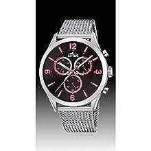 Lotus Herren Chronograph Quarz Uhr mit Edelstahl Armband 18637/C