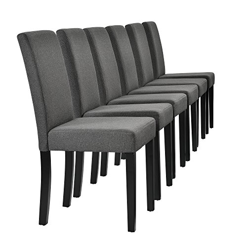 szimmerstuhl im 6er-Set - 90 x 42cm dunkelgrau Designer-Stühle (Schwarz-ess-stühle)