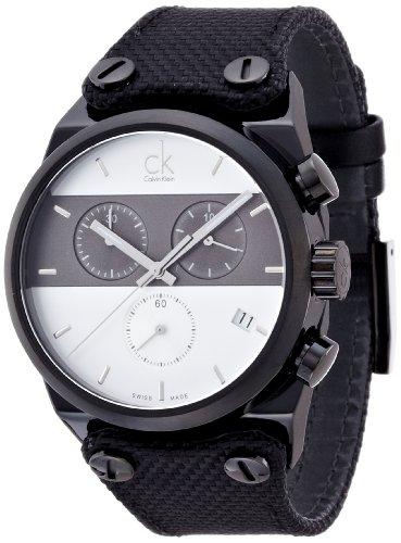 Calvin Klein Orologio Cronografo Quarzo Uomo con Cinturino in Tessuto K4B384B6