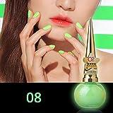 8ml lumineux fluorescent Candy Couleur brillent dans le noir de l'environnement Vernis à ongles outils de maquillage