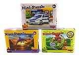 Haba Mini Puzzle Feuerwehr, Drache und Defin 3-Set Mitgebsel Kindergeburtstag