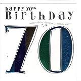 Wendy Jones-Blackett Fresco Glückwunschkarte für den Herrn zum 70. Geburtstag - veredelt durch Prägung und Folienauflage. Zum runden Geburtstag eine hochwertige und originelle Geburtstagskarte, Glückwunschkarte oder Einladungskarte, auch Geschenkgutschein oder Geldgeschenk. WJ149