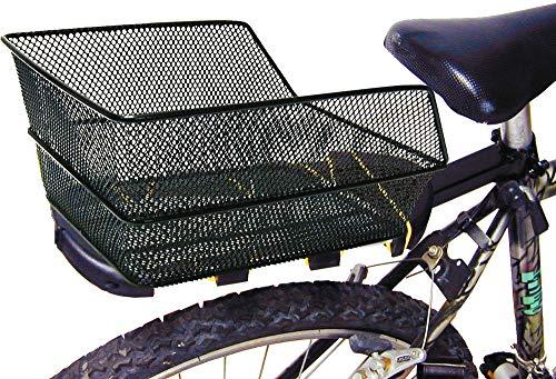Ducomi Fahrradkorb Hinten für Damen, Herren, Kinder und Hund - 38 x 28 x 17 cm - Universeller Fahrradkorb aus Kunststoffbeschichtetem, Rostfreiem Metall - Perfekt zur Befestigung am Dachträger