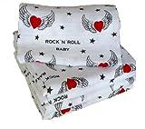 Babymajawelt-Pañuelos cuadrados de muselina 12296Rock 'n' Roll 80/80eructos paños PACK de 5