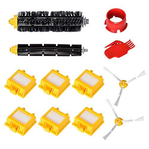 Roomba Ersatzteile zubehör, Queta iRobot Ersatzkit für Roomba iRobot 782 780 774 772 770 776 760 Filter Set 12-Teilig -