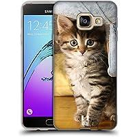 Head Case Designs Chat Tigré Chats Étui Coque en Gel molle pour Samsung Galaxy A3 (2016)