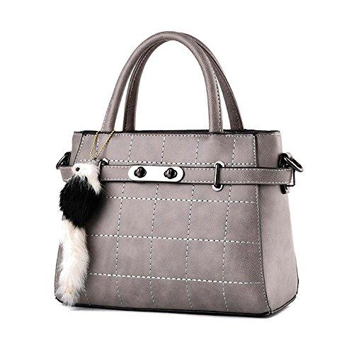 Couleur unie horizontal Platinum PU ceintures en cuir à capuche sac rétro bandoulière décoré sac sac sac sac à main