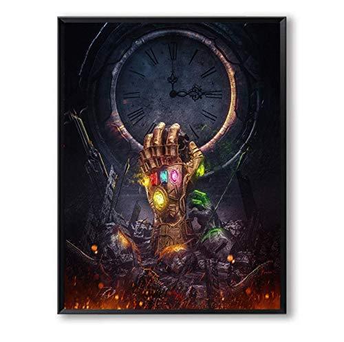 Poster Dekorative Wandkunst Leinwand Marvels Gauntlet Abstrakte Malerei Dekoration (Marvel-leinwand-tasche)