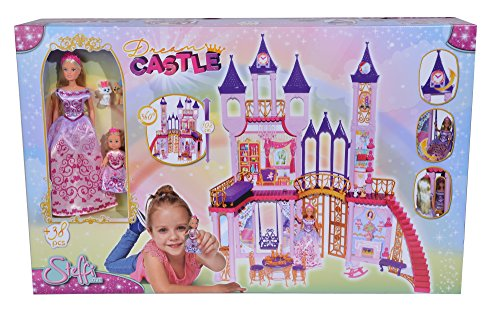 Simba 105733245 Steffi Love Dream Castle Puppenhaus (Barbie Prinzessin Bett)