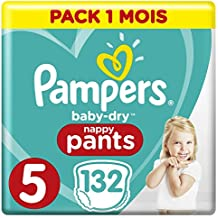 Pampers Baby-Dry pantalones, tamaño 5,  132-count