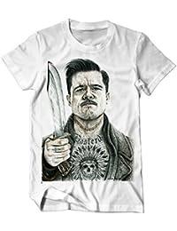 Ing Basterds Pitt tätowiert Zeichnung T-Shirt