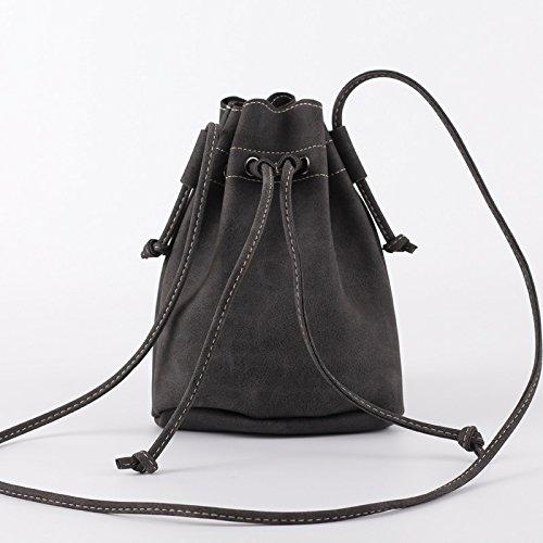 Ljiang Mode - Umhängetasche, Eimer, Tasche, Retro - Tasche, Schüler - Tasche, Mode - Tasche schwarz