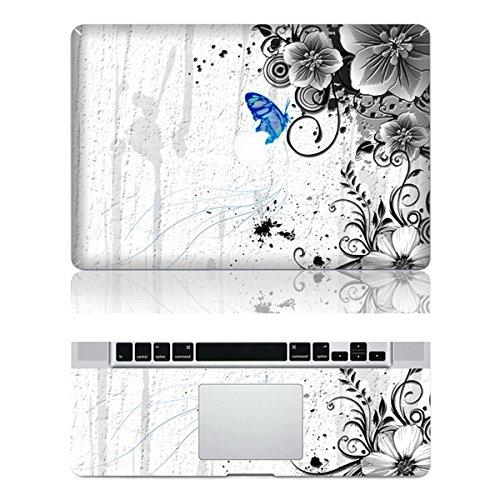 Vati Foglie farfalla rimovibile Loves copertura Fiori di protezione completa di arte del vinile Decal Sticker Cover per Apple MacBook Air 13.3