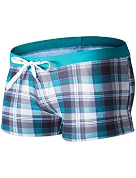 Lelefish hombres cortos de natación Natación sello textura formato pantalones,en,M