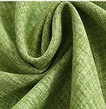 qcl3d Vorhänge Vorhang Gardinen Verdunklungsvorhänge Dicke Flache Markise aus Baumwolle und Leinen Unifarbene Vorhänge, grün, 100CMx250CM perforiert