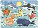 Melissa & Doug Sea Creatures Peg Puzzle, Multi Color