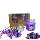#8: Set of 2 Richly Scented Candles Jars in Relaxing Lavender Aroma | 100% cotton wicks | Finest Wax Blend| Decorative Lights for Living Room | Candles for Decoration Love