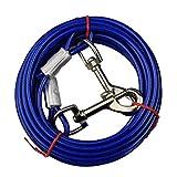 WENTS Hund Tie Out Cables 10 FT Haustier Tie-Out Leinen abelleine für Hunde,Hundeleine aus Edelstahl,Binden Kabel für Camping, Outdoor, Hunde laufleine