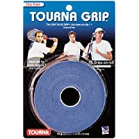 Tourna Tennis Over Grip 10 Overgrips Absorbent Dry Feel Tournagrip Durable Blue
