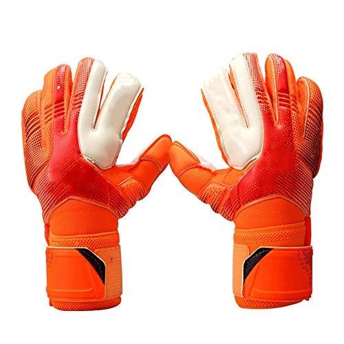 WJQ Torwarthandschuhe - Sichere und Bequeme Passform Zusätzliche Abnutzung und Anti-Rutsch-Eigenschaften zur Verringerung der Verletzungsgefahr - Sehr geeignet für Volleyball im Jugendfußkorb (Junior Goalie Pads)