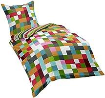 Dream Art 143323 Fb. 9 Riva Parure de lit réversible en coton renforcé avec housse de couette 200 x 220 cm et 2 taies d'oreiller 80 x 80cm Multicolore