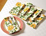 #8: ShalinIndia Floral Spring Cotton Drink Beverage Cloth Napkins - 10