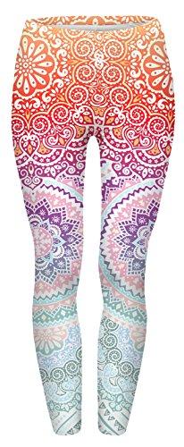 Fringoo - Legging de sport - Femme multicolore Aztec Round Ombre 42-44-12