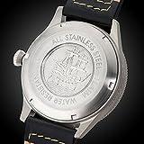 Gigandet Automatik Herren-Armbanduhr Red Baron I Fliegeruhr Uhr Datum Analog Lederarmband Schwarz G8-005 - 7