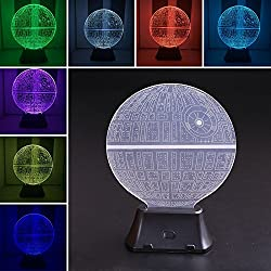 Alcoa Prime Star Wars Death 3D LED Night Light Touch Switch Table Lamp 7 Color Room Decor Colorful Kids Baby Gift