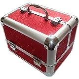 Sparkly Red Aluminium Beauty Make up Vanity Case Box Nail hair Box