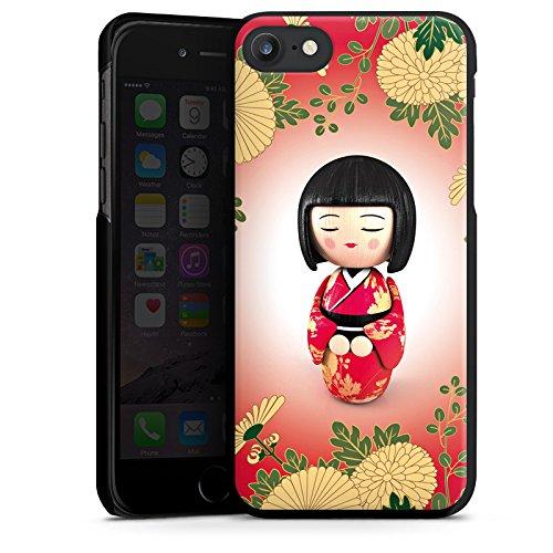 Apple iPhone X Silikon Hülle Case Schutzhülle Kiku Kokeshi Puppe Asien Hard Case schwarz
