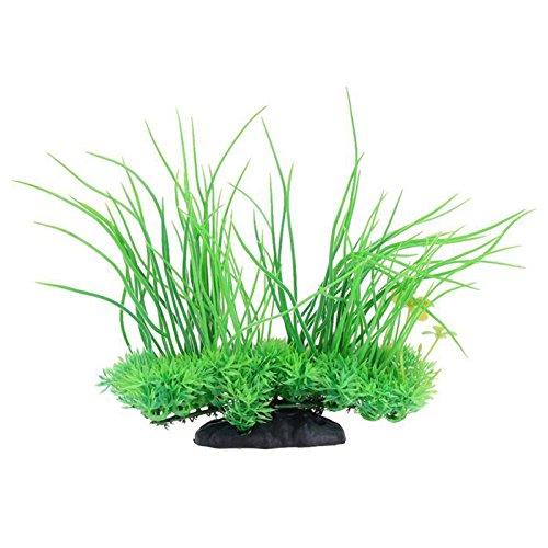 Tofree Künstliche Wasser Aquarium Gras Lang Blatt Pflanze Landschaft Deko Fisch Tank Dekorationen Kunststoff