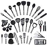 NIEUW - 42-delige set van KRONENKRAFT®, set keukenbenodigdheden van roestvrij staal en nylon. Keukentools, inclusief spatel, tang, lepel, maatbeker, garde, blikopener, schiller, rasp